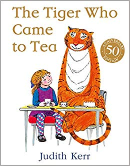 The Tiger Who Came to Tea Author: Judith Kerr Publisher: HarperCollins Children's Books - Sophie and her Mummy are having tea in the kitchen when in walks a hungry tiger who asks to stay to tea.
