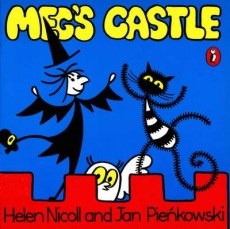Meg and Mog Author: Helen Nicholl Illustrator: Jan Pienkowski Publisher: Puffin In this the first story about much-loved characters Meg the witch and Mog her cat, the pair go off to a wild Hallowe'en party with all the other witches