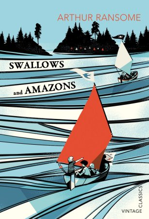 Swallows and Amazons Author: Arthur Ransome Publisher: Red Fox It's the summer holidays, and the Walker children are excited to set sail on their boat Swallow and camp on Wild Cat Island.