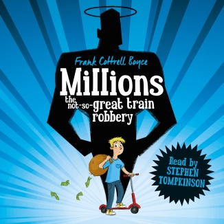 Millions Author: Frank Cottrell Boyce Publisher: Pan Macmillan One night, a bag containing £229,370 falls from the sky and flattens the hermitage. Damian is convinced it is a gift from God.